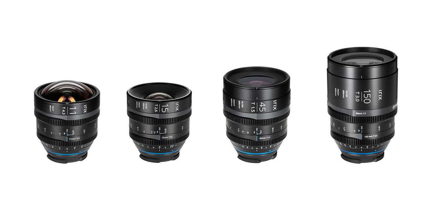 Irix「11mmT4.3」「15mmT2.6」「45mmT1.5」「150mmT3.0 マクロ」